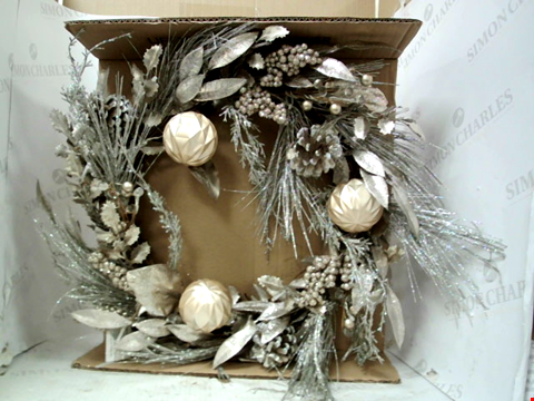 Lot 13043 CHAMPAGNE WREATH PRE-LIT RRP £33.00