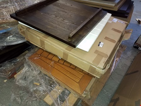 Lot 10222 PALLET OF ASSORTED TABLE TOPS IN VARIOUS SIZES AND DESIGNS