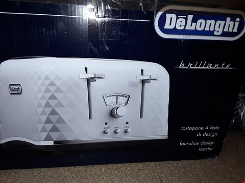 Lot 354 DELONGHI CTJ4003.W BRILLANTE TOASTER  RRP £82