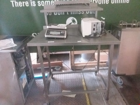 Lot 13574 STAINLESS STEEL PREP TABLE