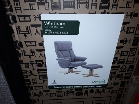 Lot 604 WHITHAM SWIVEL RECLINER GREY