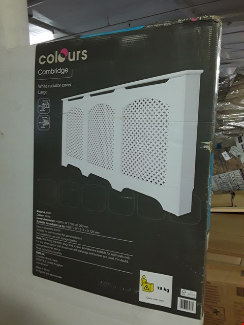 Lot 3117 BOXED COLOURS CAMBRIDGE WHITE LARGE RADIATOR COVER