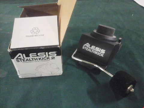 Lot 1075 BOXED ALESIS STEALTHKICK 2 COMPACT KICK TRIGGER