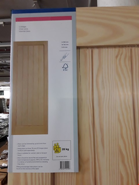 Lot 3161 COTTAGE CLEAR PINE INTERNAL DOOR H1981 X W762 X D35 MM