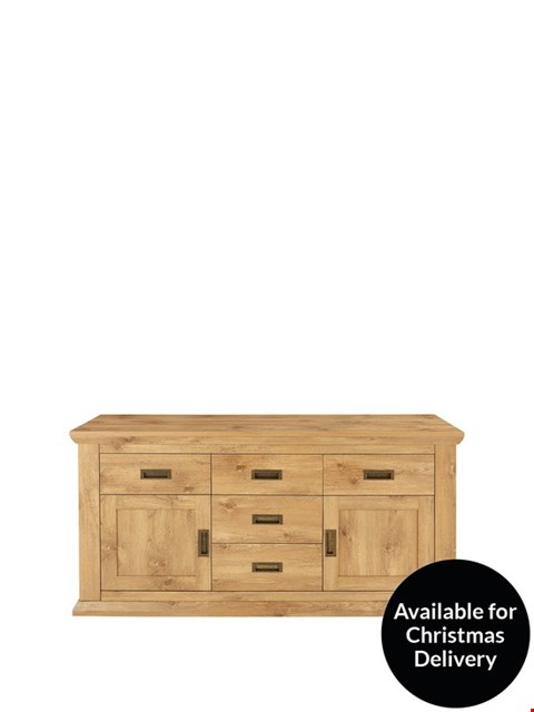 Lot 7309 BOXED CLIFTON OAK-EFFECT LARGE SIDEBOARD (2 BOXES) RRP £249.00