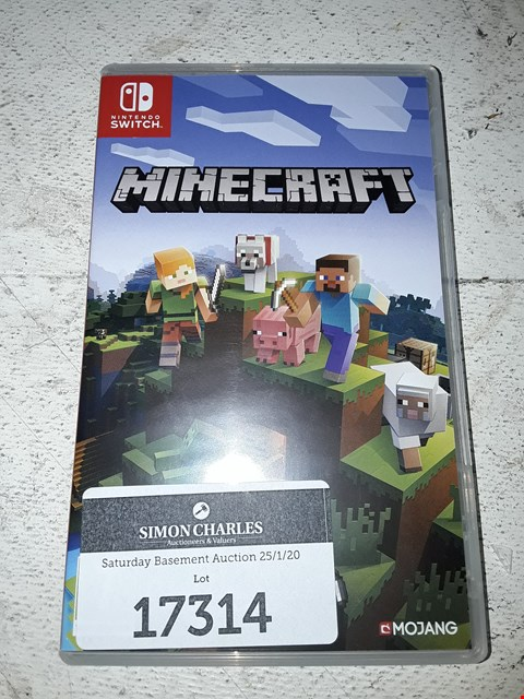 Lot 17314 MINECRAFT FOR NINTENDO SWITCH