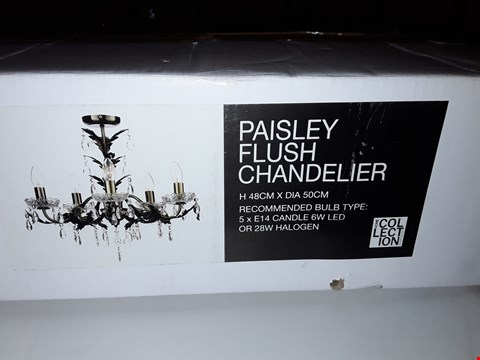 Lot 362 BOXED HOME COLLECTION PAISLEY FLUSH CHANDELIER