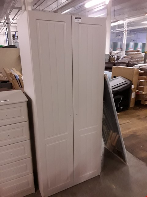 Lot 10014 DESIGNER GREY PAINTED DOUBLE DOOR WARDROBE