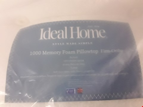 Lot 179 DESIGNER BAGGED 135CM IDEAL HOME 1000 MEMORY FOAM PILLOW FIRM ORTHO MATTRESS