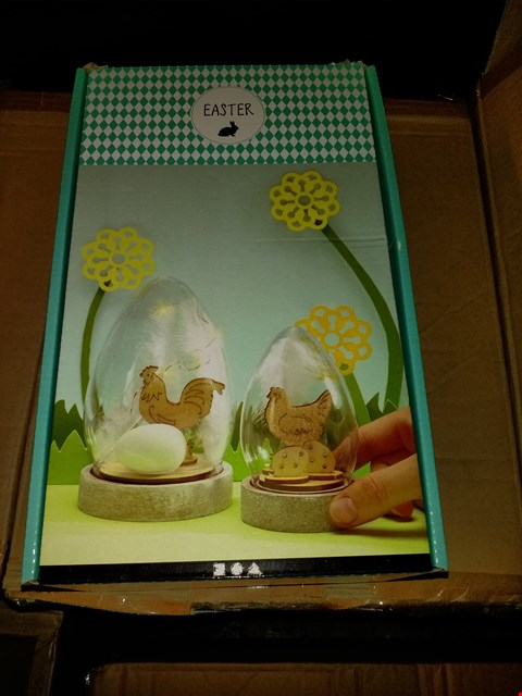 Lot 634 BOX OF 8 CREATIV EASTER EGG BELL JAR DECORATION KITS