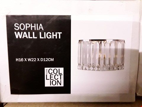 Lot 394 BOXED HOME COLLECTION SOPHIA WALL LIGHT