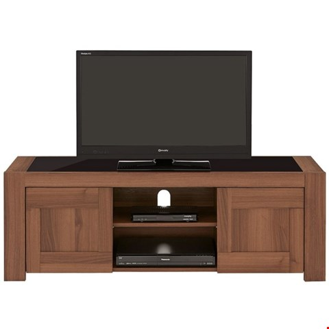 Lot 2090 BOXED GRADE 1 BLACK/WALNUT EFFECT AVERY TV UNIT (1 BOX) RRP £169.99