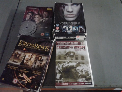 Lot 4407 4 BOXES OF ASSORTED MEDIA ITEMS TO INCLUDE THE LORD OF THE RINGS TRILOGY AND UNDERWORLD QUADRILOGY