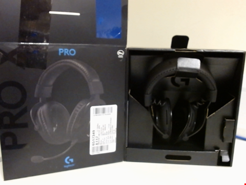 Lot 15188 LOGITECH G PRO X GAMING HEADSET (2ND GENERATION) WITH BLUE VO!CE, DTS HEADPHONE:X 7.1 AND 50 MM PRO-G DRIVERS (FOR PC, PS4, SWITCH, XBOX ONE, VR) - BLACK