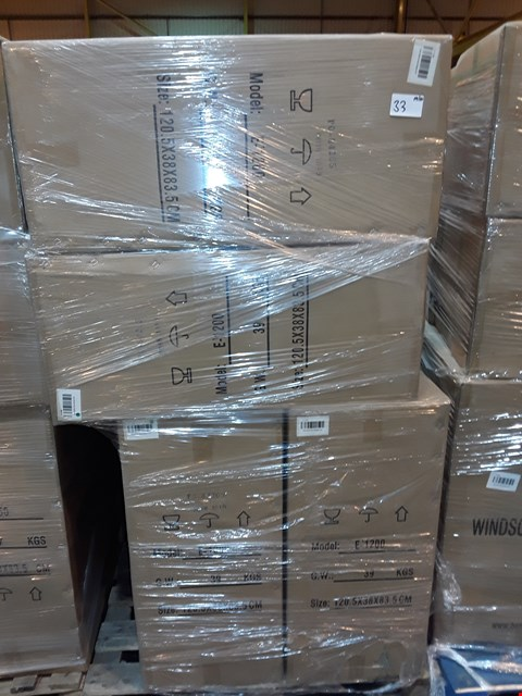 Lot 33 PALLET CONTAINING 4 BOXED 120CM WHITE GLOSS WINDSOR UNITS - E-1200