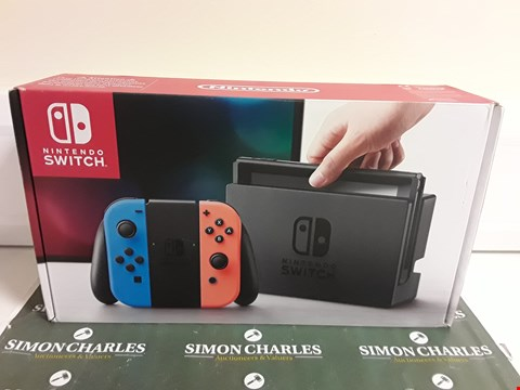 Lot 2394 NINTENDO SWITCH NEON RED/BLUE CONSOLE