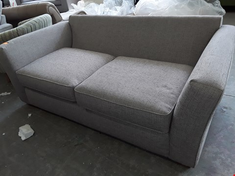 Lot 2065 QUALITY BRITISH DESIGNER MAXWELL NATURAL FABRIC THREE SEATER SOFA
