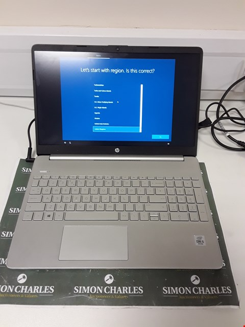 Lot 1247 HP LAPTOP 15.5 INCH WITH INTEL CORE i5