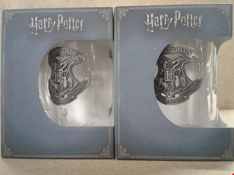 Lot 492 2 BRAND NEW BOXED HARRY POTTER GLASS STEINS