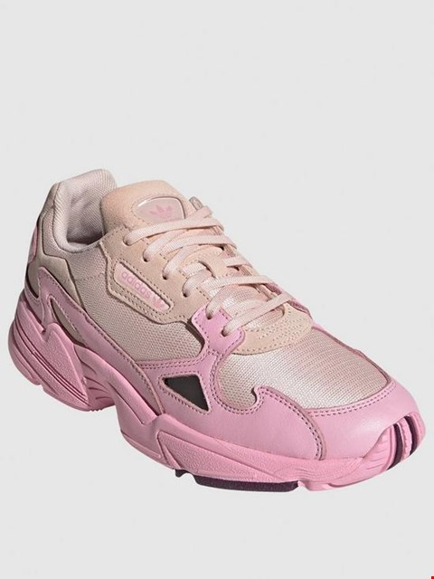 Lot 7193 BRAND NEW BOXED ADIDAS ORIGINALS FALCON PINK TRAINERS - SIZE 6