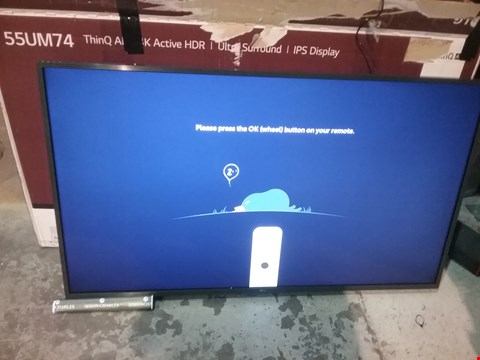 "Lot 36 BOXED LG UHD TV AI THINQ 55"" 55UM7400PLB"