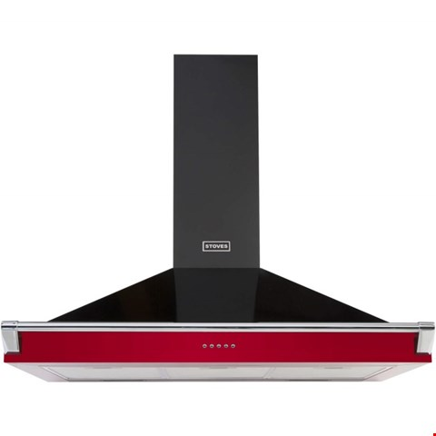 Lot 12008 STOVES S900 RICHMOND 90CM WIDE CHIMNEY COOKER HOOD - HOT JALAPENO