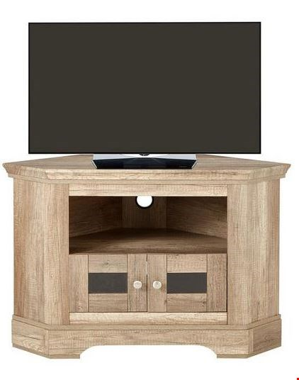 Lot 268 BRAND NEW IDEAL HOME WILTSHIRE CORNER TV UNIT - FITS UP TO 40 INCH TV RRP £169.00