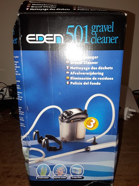 Lot 6163 BOXED EDEN 501 GRAVEL CLEANER