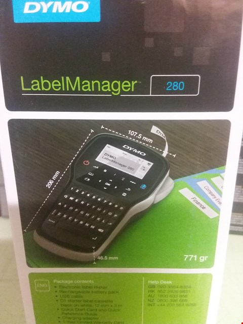 Lot 89 DYMO LABEL MANAGER