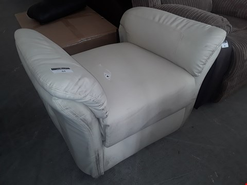 Lot 64 DESIGNER WHITE LEATHER POWER RECLINING SEAT BASE