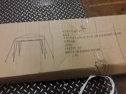 Lot 3111 BOXED GREEN 3X3M GAZEBO