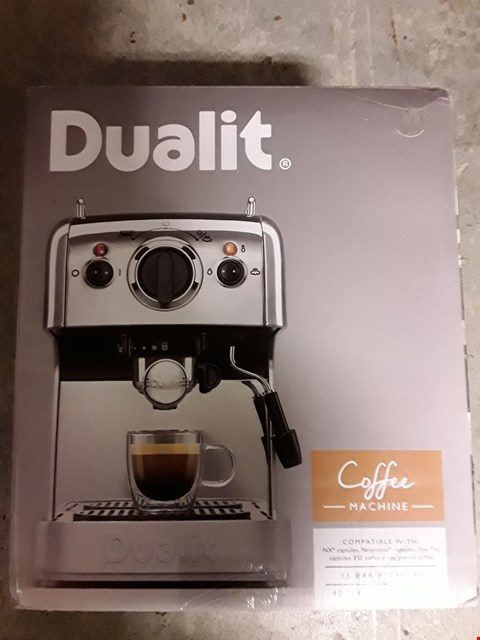 Lot 316 DUALIT COFFEE MACHINE 15 BAR PRESSURE