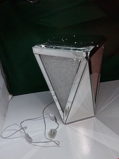 Lot 121 JM BY JULIEN MACDONALD LIGHT-UP ENCAPSULATED CRYSTAL SIDE TABLE (DAMAGED)