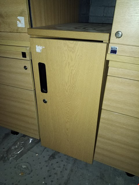 Lot 17066 WOOD EFFECT OFFICE STORAGE CUPBOARD