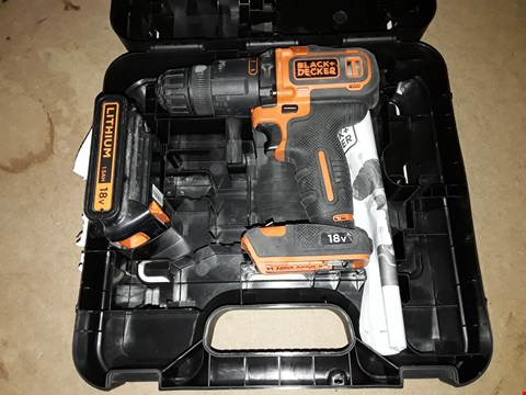 Lot 672 BLACK AND DECKER 18V 2 GEAR HAMMER DRILL