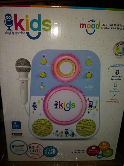 Lot 8423 SINGING MACHINE KARAOKE SYSTEM BLUETOOTH COMPATIBLE, APP COMPATIBLE, LINE IN FOR EXTERNAL DEVICE  RRP £63.00