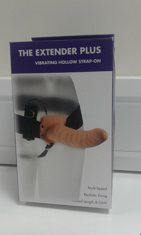 Lot 10034 BOXED LINX THE EXTENDER PLUS VIBRATING HOLLOW STRAP ON