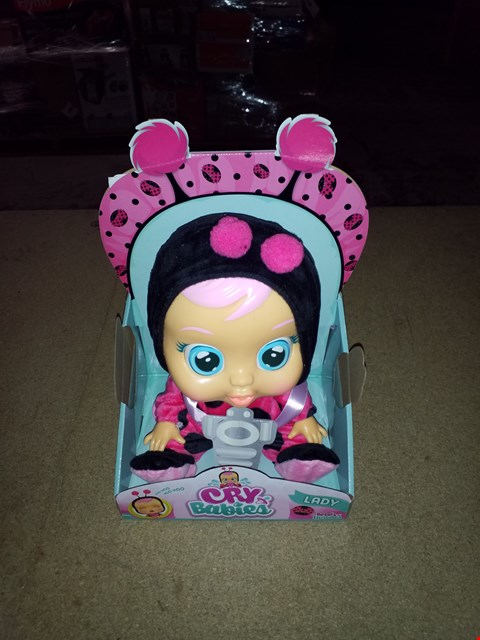 Lot 439 BRAND NEW CRY BABIES LADY BUG DOLL RRP £40.00