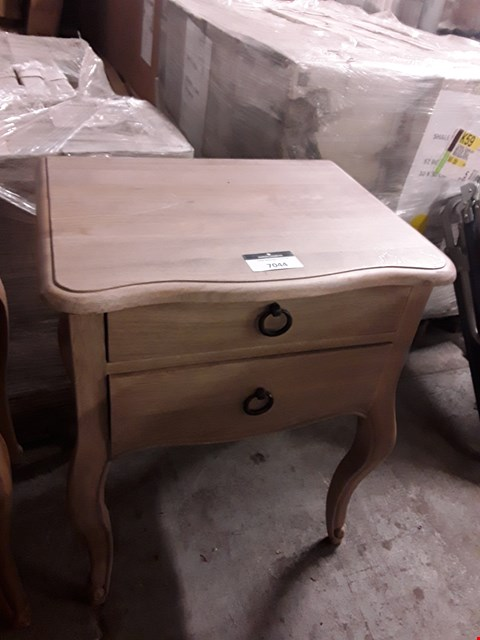 Lot 7044 DESIGNER OAK-EFFECT 2-DRAWER LAMP TABLE