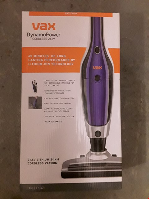 Lot 568 VAX H85-DP-B21 DYNAMO POWER 2-IN-1 21.6V CORDLESS VACUUM CLEANER