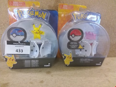 Lot 433 2 BRAND NEW BOXED ITEMS TO INCLUDE A POKEMON PIKACHU AND A POKEMON METAMORPH