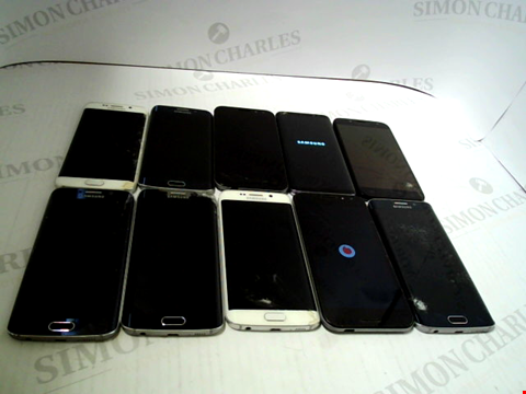 Lot 3369 LOT OF 10 ASSORTED SMARTPHONES; VARIOUS MAKES AND GRADES