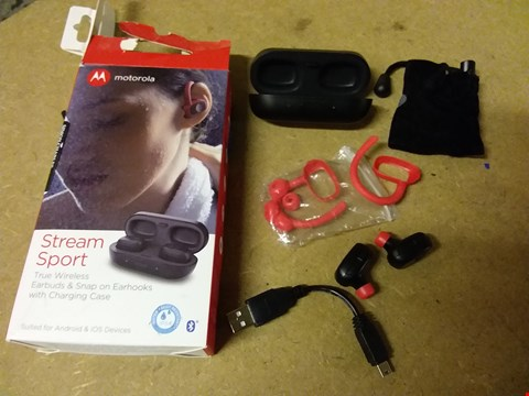 Lot 861 MOTOROLA STREAM SPORT WIRELESS EAR BUDS