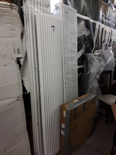 Lot 130 LOT OF 4 ASSORTED WHITE RADIATORS IN VARIOUS SIZES