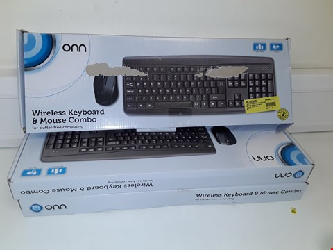 Lot 129 3 X ONN WIRELESS KEYBOARD AND MOUSE COMBO