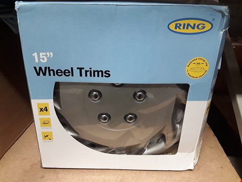 "Lot 8341 BOXED RING 15"" WHEEL TRIMS"