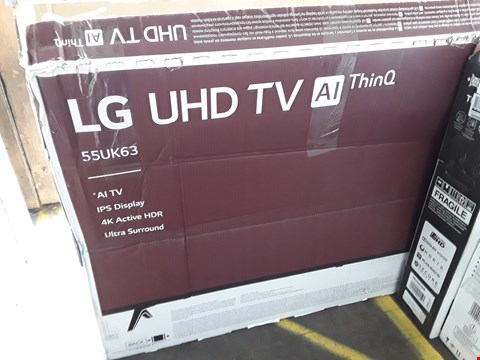 "Lot 1045 LG 55"" UHD 4K HDR SMART LED TELEVISION MODEL 55UK6300PLB RRP £1200.00"