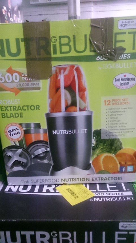 Lot 1026 4 BOXED NUTRIBULLET NUTRITION EXTRACTORS.