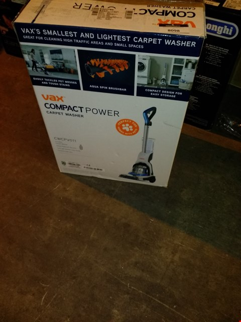 Lot 8098 VAX COMPACT POWER CARPET CLEANER