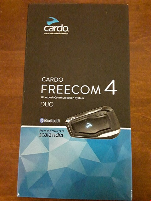 Lot 4306 CARDO FRC41103 SCALA FREECOM 4 DUO BIKE BLUETOOTH 4.1 MOTORCYCLE COMMUNICATION SYSTEM
